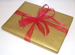 book gift wrapped